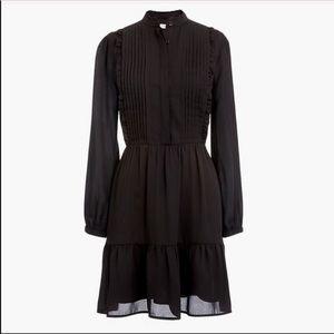 J. Crew Long Sleeve Black Dress